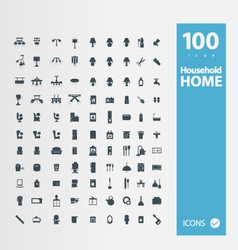 Home Household icon set vector image vector image