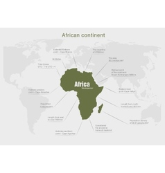 infographics continent Africa green vector image vector image