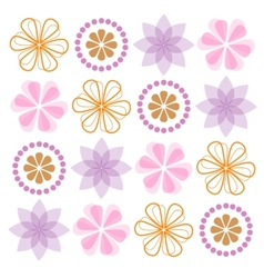 Set of ornate flowers vector image vector image