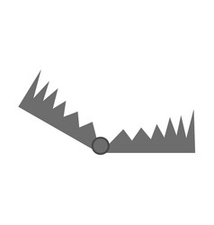 trap icon isolated on white vector image vector image