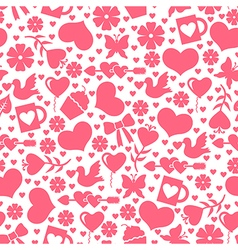 valentine day seamless vector image vector image