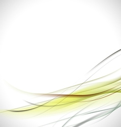 abstract colorful green curve background vector image vector image