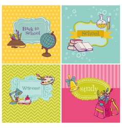 Card Collection - Back to School vector image vector image