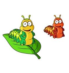 Cartoon cute caterpillar character vector image vector image