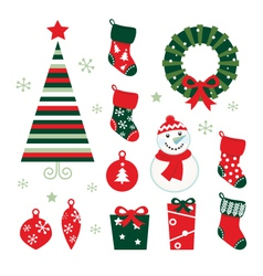 christmas and winter design vector image