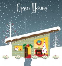 Christmas open house vector image
