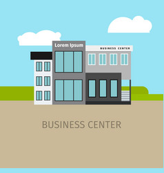 colored business center building vector image vector image
