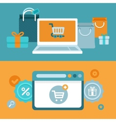 internet shopping concept in flat style vector image