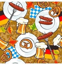 Oktoberfest background seamless pattern vector image vector image