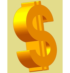 US Dollar vector image