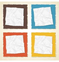 Vintage Torn Paper Background vector image vector image