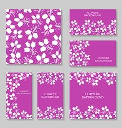 bouquets backg set3 vector image