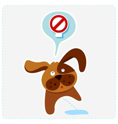 dog with sign vector image vector image