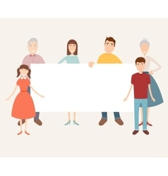 Family portrait with space for text Traditional vector image