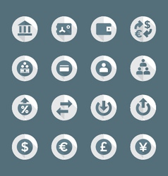 flat style various financial banking icons set vector image vector image