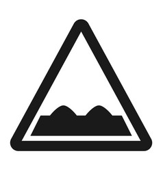 Rough road sign line icon vector