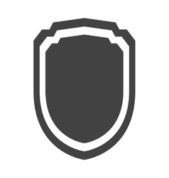 shield protection insignia security template vector image