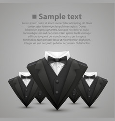 triangle jacket and tie team vector image vector image