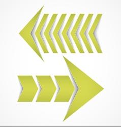 Two arrows concepts vector image vector image