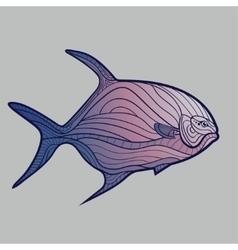 Abstract Tropical Fish vector image vector image