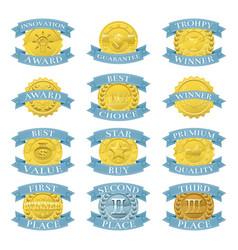 award medals or badges vector image