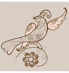 Bird ornament vector image vector image