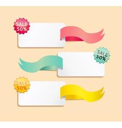ribbon soft color sale tag vector image