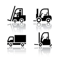 Set of transport icons - loader vector image vector image