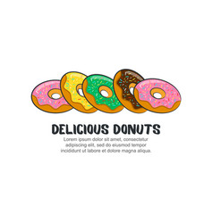 template logo for delicious donuts vector image
