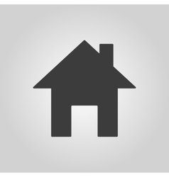 The home icon House symbol Flat vector image