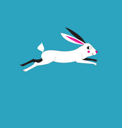 A running hare vector