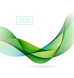 abstract wave design on white background vector image