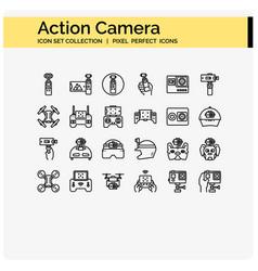 Acton camera outline vector