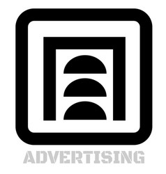 Advertising conceptual graphic icon vector