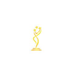 Award success trophy template vector