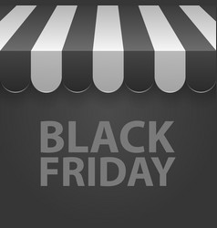 Black friday sale black and white awning vector