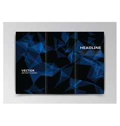 Black template of booklet with abstract elements vector