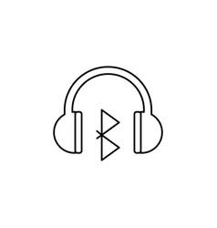 bluetooth headphones icon vector image