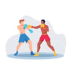 Boxing sport concept vector