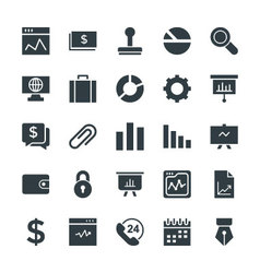 Business Cool Icons 1 vector