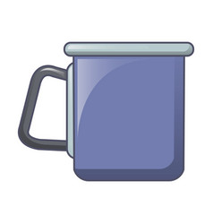 Camp steel cup icon cartoon style vector