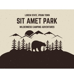 Camping brochure and label The concept of vector image
