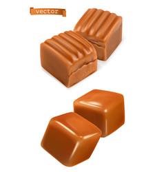 Caramel candies 3d vector