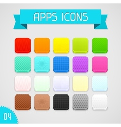 collection color apps icons set 4 vector image