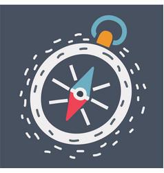 compas icon on dark vector image