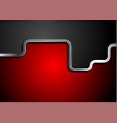 contrast red and black background with metallic vector image