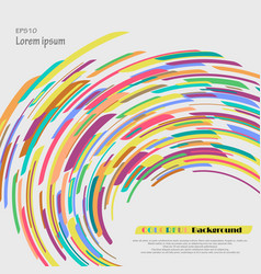 curve of crayon colorful abstract background vector image