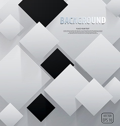 cut square paper background vector image