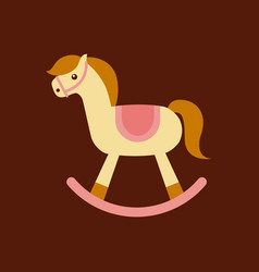 Cute horse toy vector