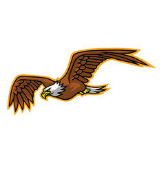 eagle falcon flying mascot logo mascot vector image
